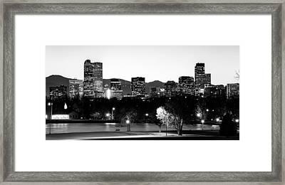 Denver Colorado In Black And White Framed Print by Gregory Ballos