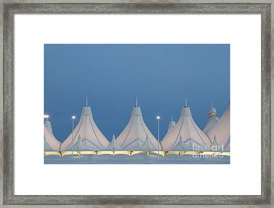 Denver International Airport At Dusk Framed Print by Juli Scalzi