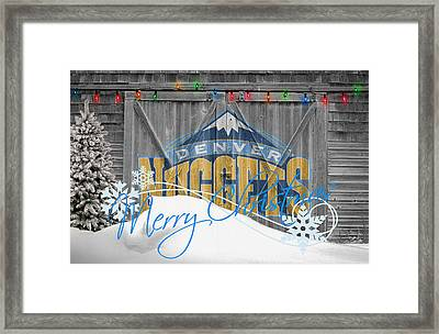 Denver Nuggets Framed Print by Joe Hamilton