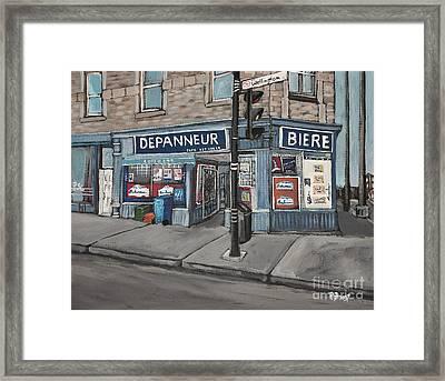 Depanneur Safa Wellington Street  Framed Print by Reb Frost