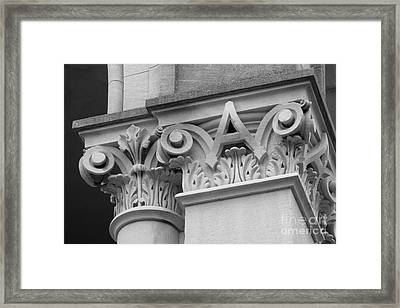 Depauw University East College Detail Framed Print by University Icons