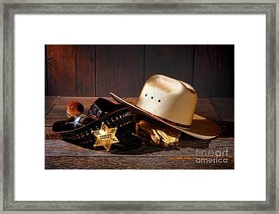 Deputy Sheriff Gear  Framed Print by Olivier Le Queinec