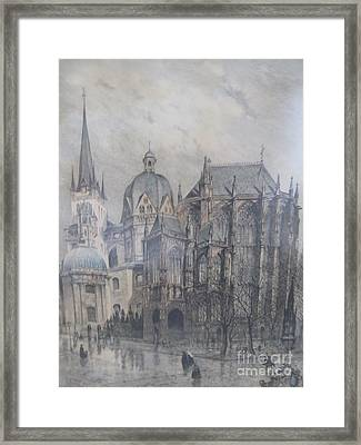 Der Dom - Aachen Germany Framed Print by Anthony Morretta