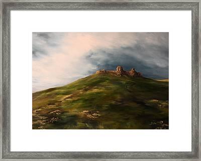 Deralict Chartley Castle Staffordshire Framed Print by Jean Walker