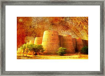 Derawar Fort Framed Print by Catf