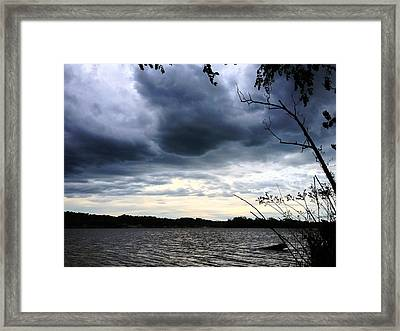 Derby Eve Storm Framed Print by Andrew Martin