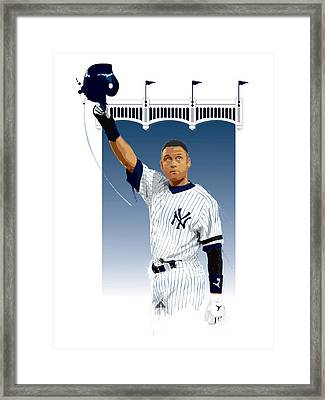 Derek Jeter 3000 Hits Framed Print by Scott Weigner