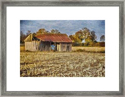 Derelict Barn Framed Print by Jutta Maria Pusl