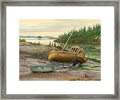 Derelict Boat Framed Print by Paul Krapf