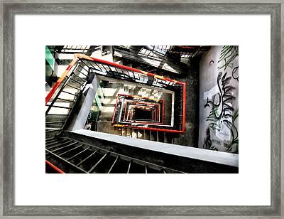 Derelict Stairwell Framed Print by Russ Dixon