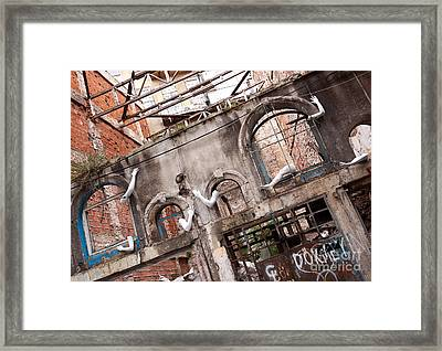 Derelict Wall Of Lost Limbs 01 Framed Print by Rick Piper Photography