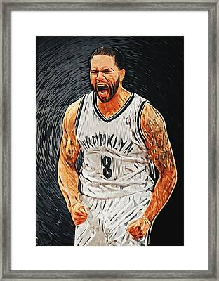 Deron Williams Framed Print by Taylan Apukovska