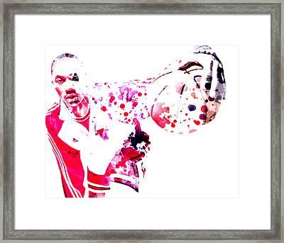 Derrick Rose Framed Print by Brian Reaves