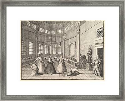 Dervishes Dancing Framed Print by Celestial Images