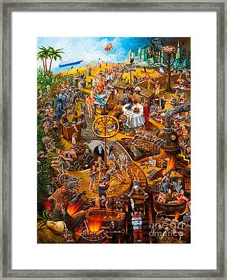 Descent In To Hell Framed Print by Igor Postash