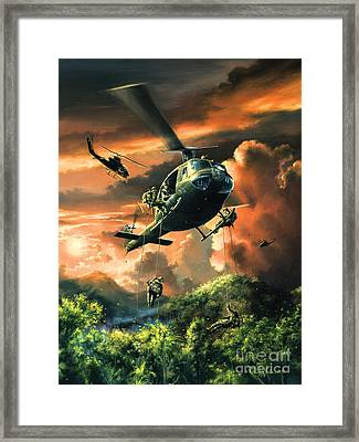 Descent Into The A Shau Valley Framed Print by Randy Green