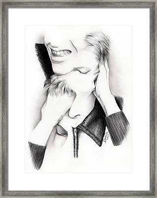 Desconstruction Of David Bowie Framed Print by Dianah B