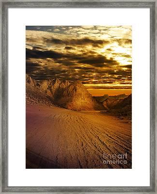 Deseret Landscape Framed Print by Jelena Jovanovic