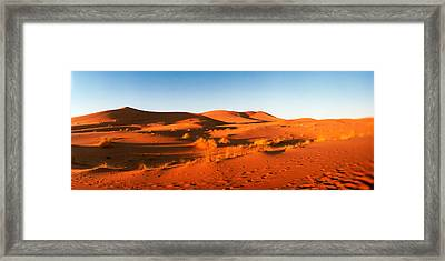 Desert At Sunrise, Sahara Desert Framed Print by Panoramic Images