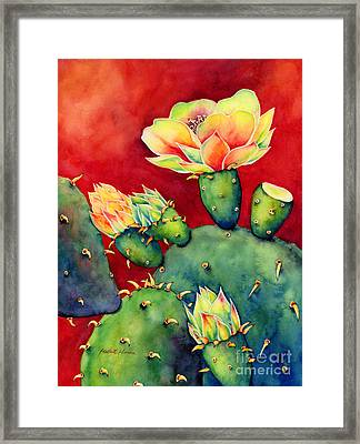 Desert Bloom Framed Print by Hailey E Herrera