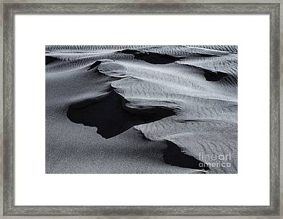 Desert Contours Framed Print by Mike  Dawson