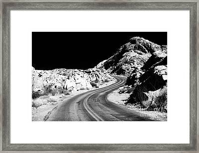 Desert Curves Framed Print by John Rizzuto