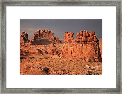 Desert Goblins And Towers Framed Print by Adam Jewell