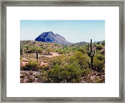 Desert Hills Framed Print by Gordon Beck