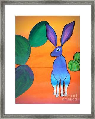 Desert Jackrabbit Framed Print by Karyn Robinson