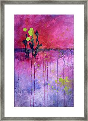 Desert Landscape Abstract Framed Print by Nancy Merkle