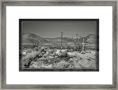 Desert Memorial Framed Print by Cindy Nunn