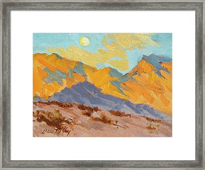 Desert Morning La Quinta Cove Framed Print by Diane McClary