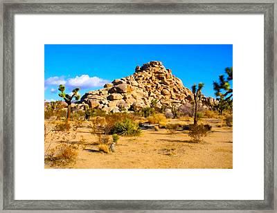 Desert Mound Watercolor Framed Print by Barbara Snyder