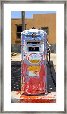 Desert Mountain Super Gasoline - Bennett Gas Pump Framed Print by Mike McGlothlen
