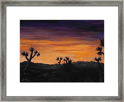 Desert Night Framed Print by Anastasiya Malakhova