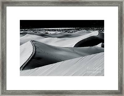 Desert Night Death Valley By Diana Sainz Framed Print by Diana Sainz