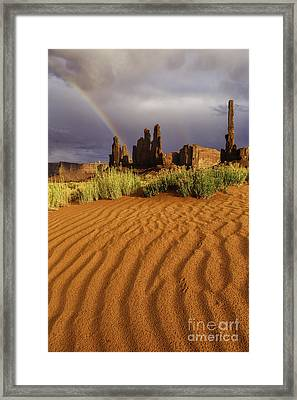 Desert Rainbow IIi Framed Print by Stuart Gordon