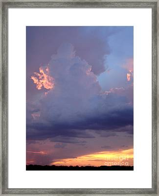 Desert Rainstorm 5 Framed Print by Kerri Mortenson