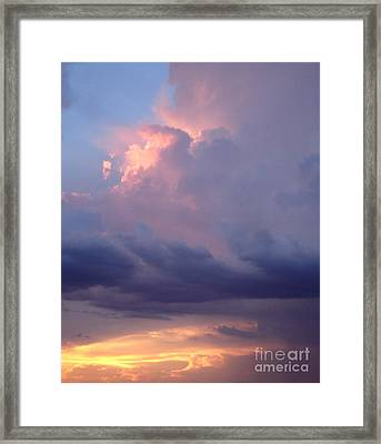 Desert Rainstorm 6 Framed Print by Kerri Mortenson