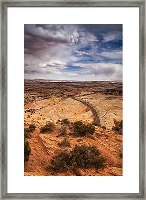 Desert Road Framed Print by Andrew Soundarajan