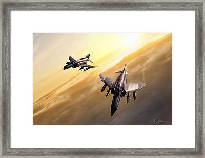 Desert Sky Weasels Framed Print by Peter Chilelli