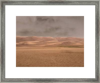 Great Sand Dunes Approaching Storm Framed Print by Dan Sproul