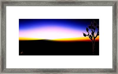 Desert Sunset Framed Print by Ben and Raisa Gertsberg