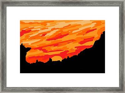 Desert Sunset Framed Print by Jera Sky