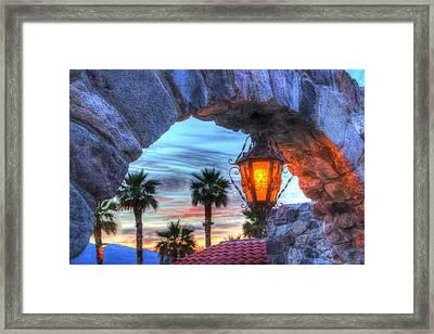 Desert Sunset View Framed Print by Heidi Smith