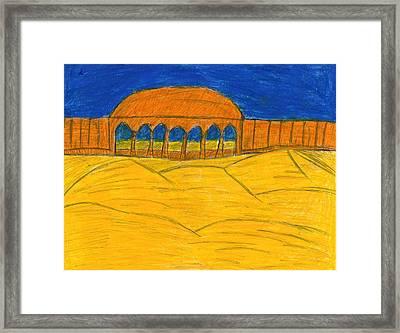 Desert Temple Framed Print by Frances Garry
