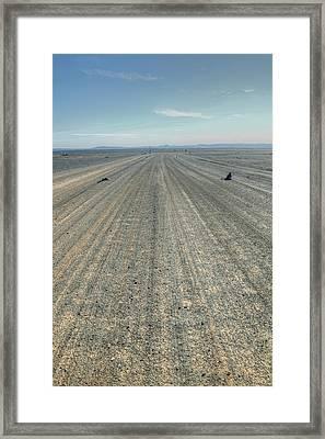 Desert Trail Framed Print by Sophie Vigneault