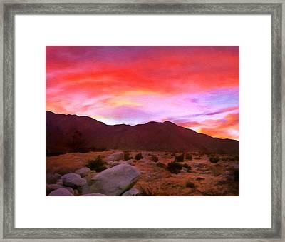 Desert Twilight Framed Print by Michael Pickett