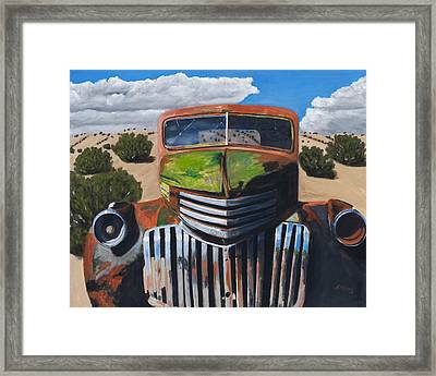 Desert Varnish Framed Print by Jack Atkins