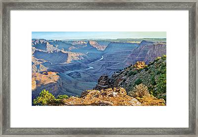 Desert View-morning Framed Print by Paul Krapf